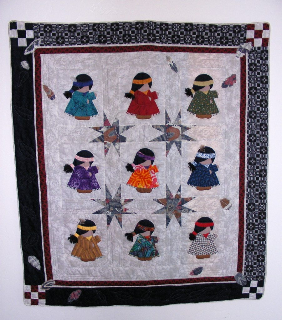 Noel Christmas Carolers Decoration Felt Clothes Big By: Indian Maiden Quilt