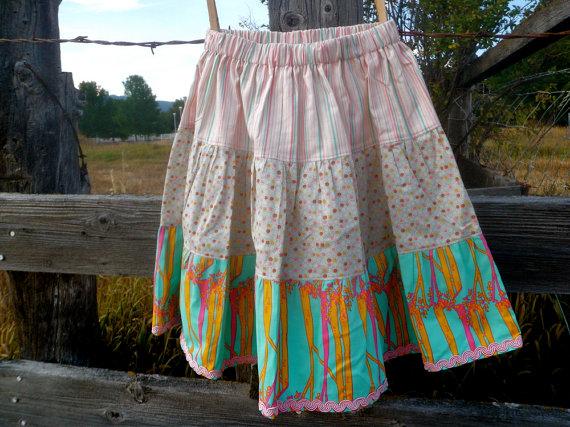 3 tiered skirt ruffle skirt