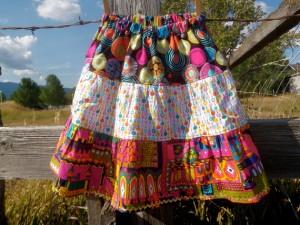 bright three tier skirt