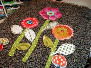 flower applique on purses
