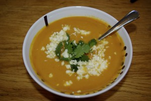 curried sweet potato apple soup
