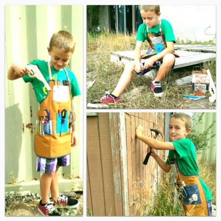 kids utility apron