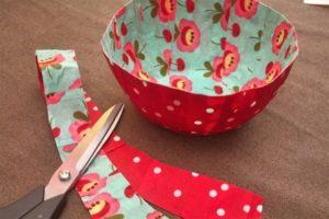 fabric bowl modge podge