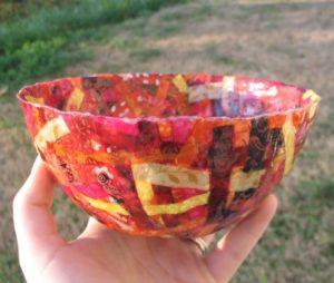 fabric strap bowl