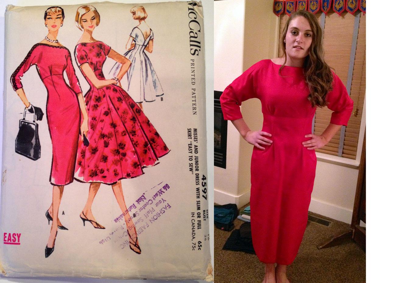 McCalls 4597 vintage dress pattern