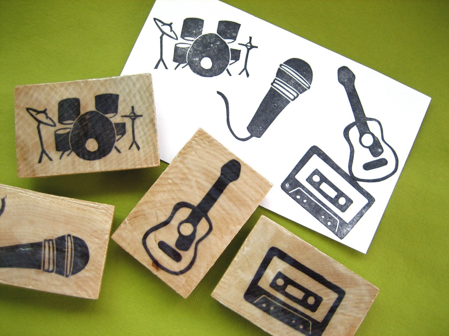 music themed rubber stamps footloose movie party
