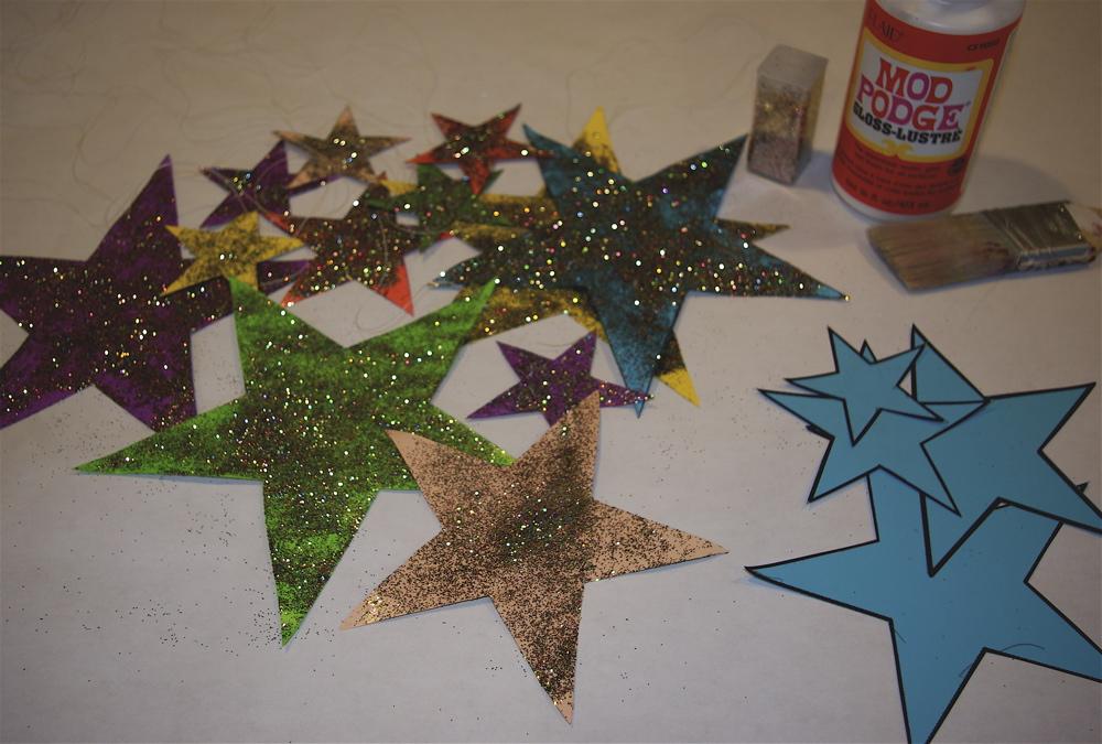 making glitter stars