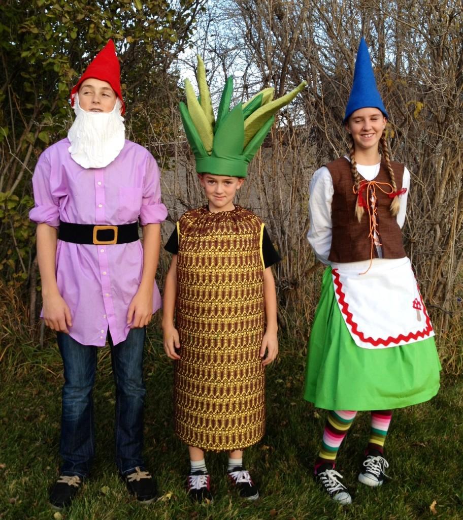 Halloween DIY costumes, gnomes pineapple costume