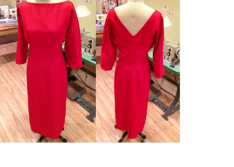 making McCalls 4597 vintage dress pattern