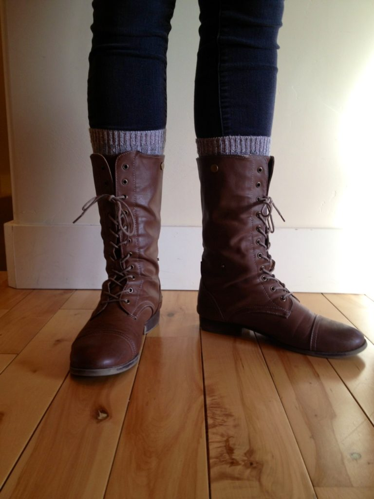 tricky tip making faux boot socks