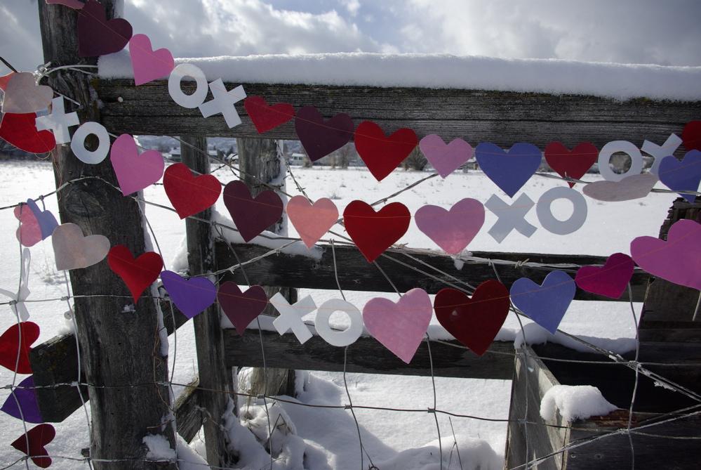 felt heart banner