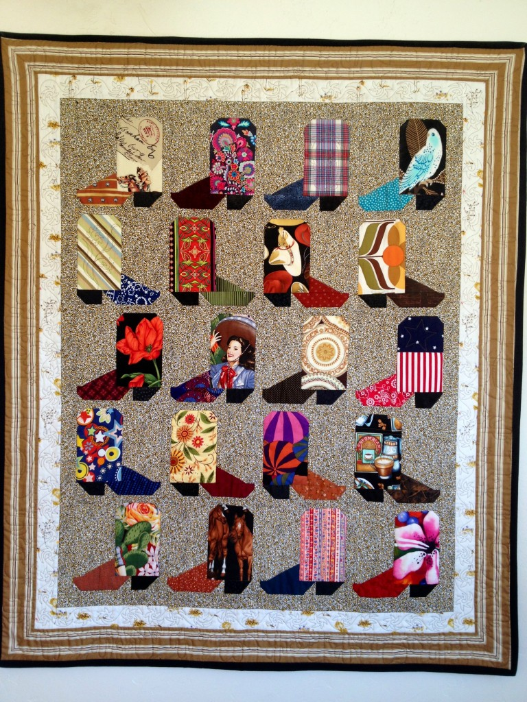 And i m making another one of these boot quilts shrinking the