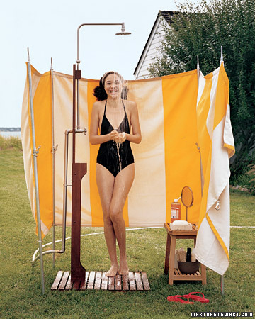 I dream of summer outdoor showers noelle o designs - How to make an outdoor shower ...