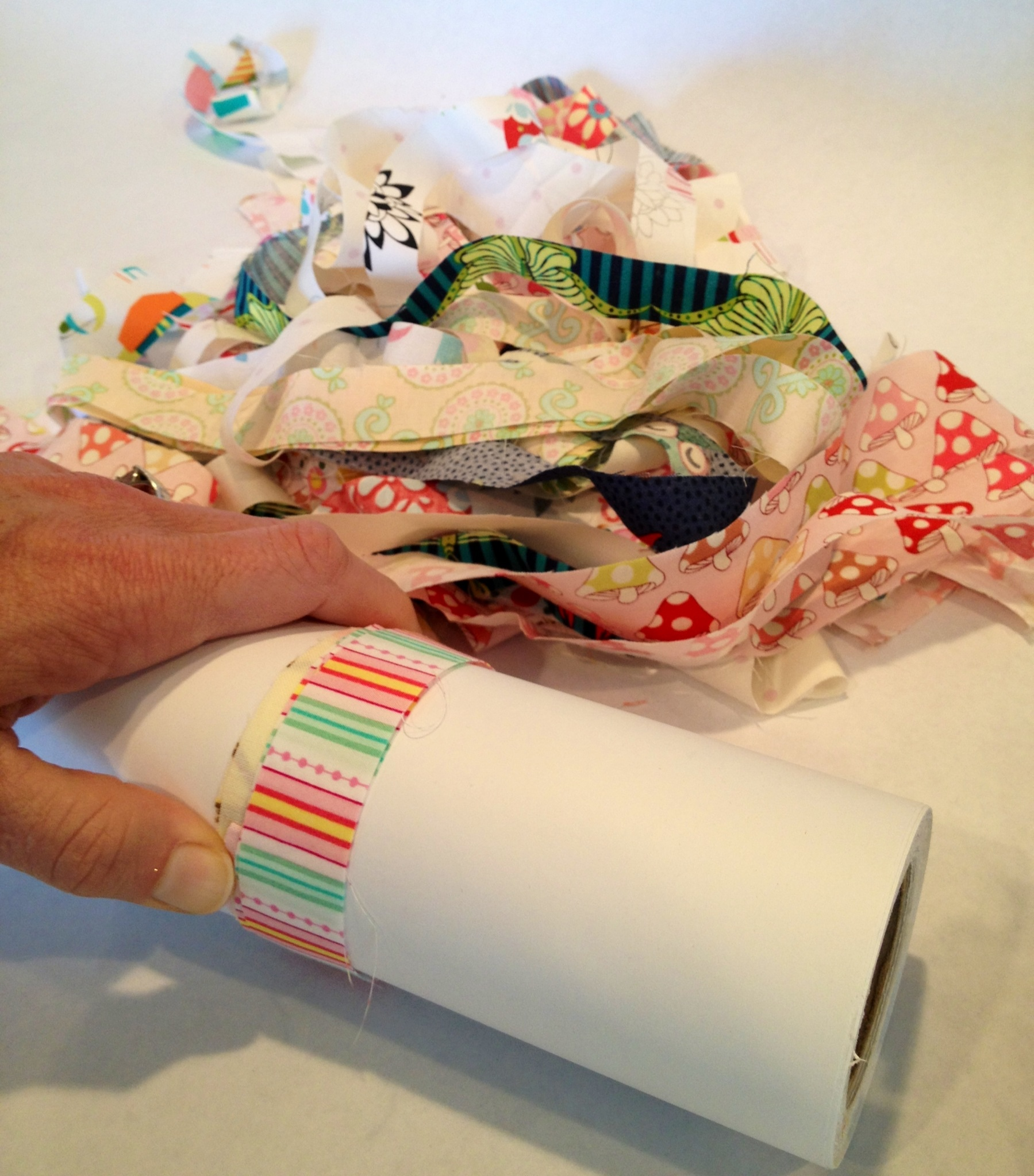 Step 2 Partytime Kitchen: Wrap The Fabric Scraps
