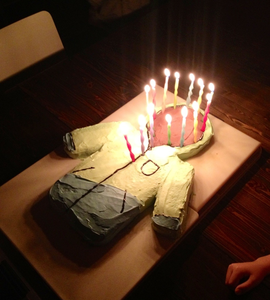 ski parka cake, cake ideas for boys