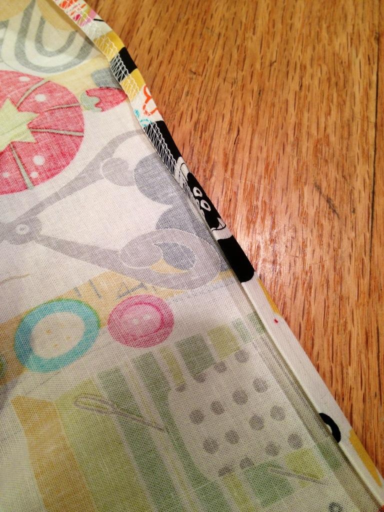 iron the hem into place, double folded