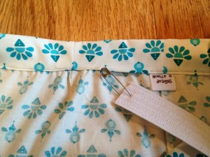 use a safety pin to guide elastic