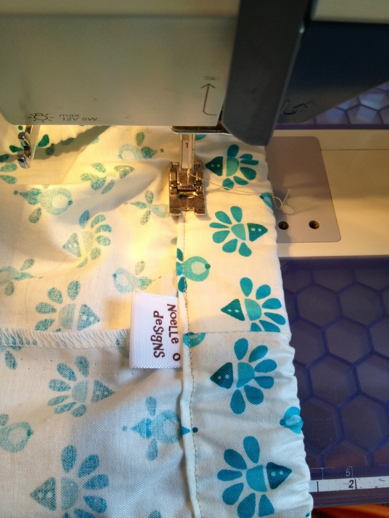 sew closed the waistband opening