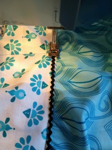 sew rick rack to a tier of the skirt