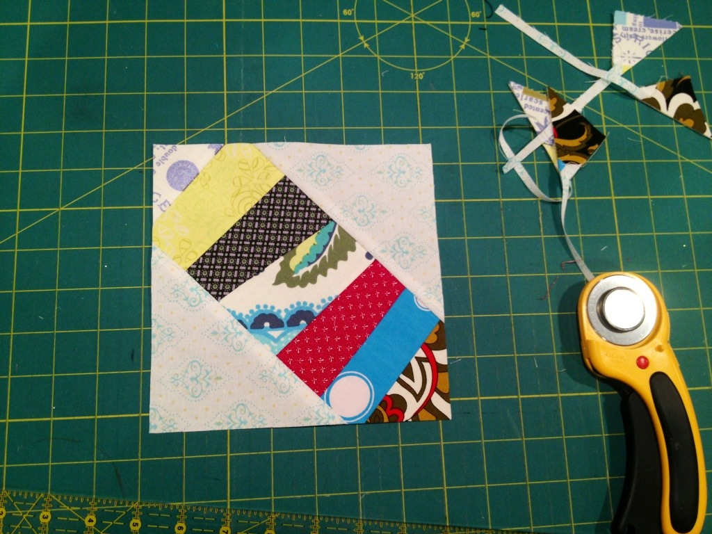 foundation quilting pieced square