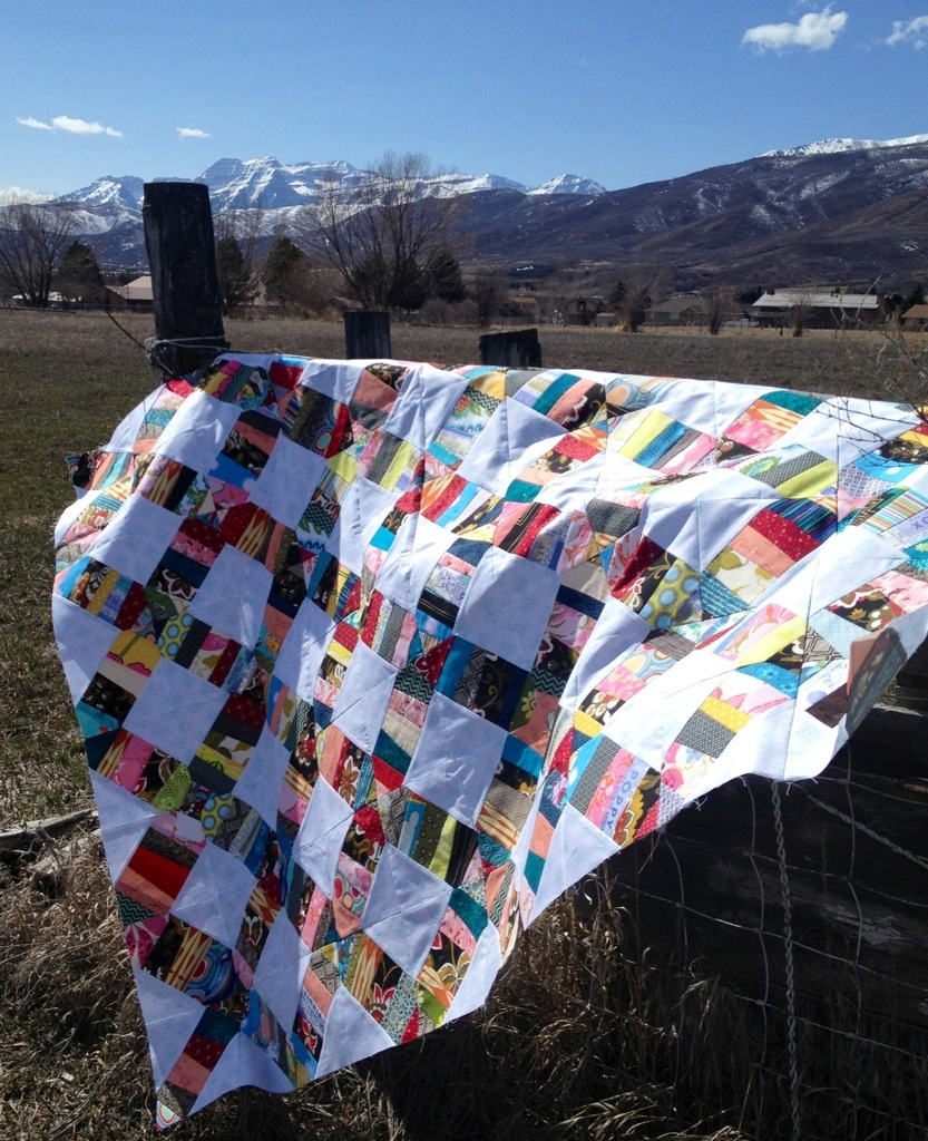 confetti scrap quilt, scrap quilting ideas