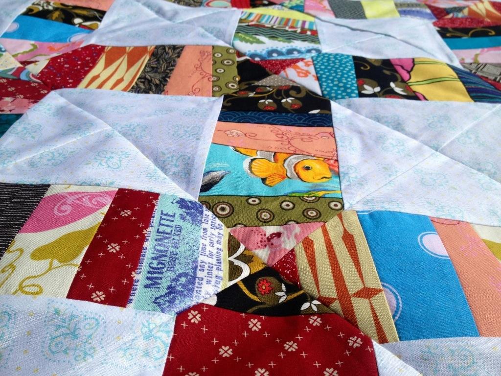 random fabrics, scrap quilting ideas