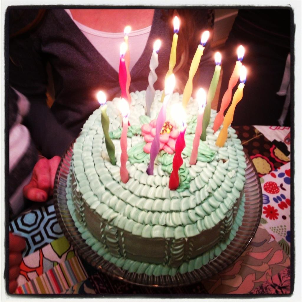 ruffle birthday cake