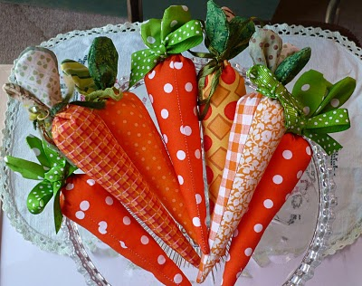 sewn carrot tutorial, easy spring sewing crafts