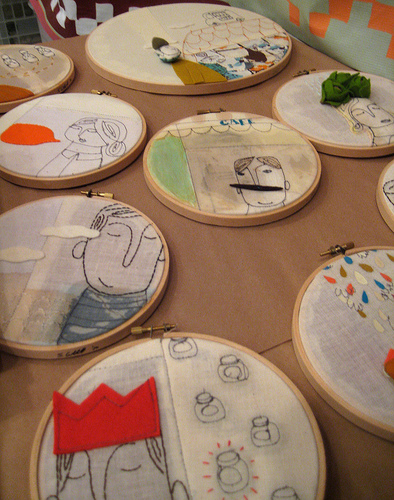 embroidery drawing, unique embroidery ideas