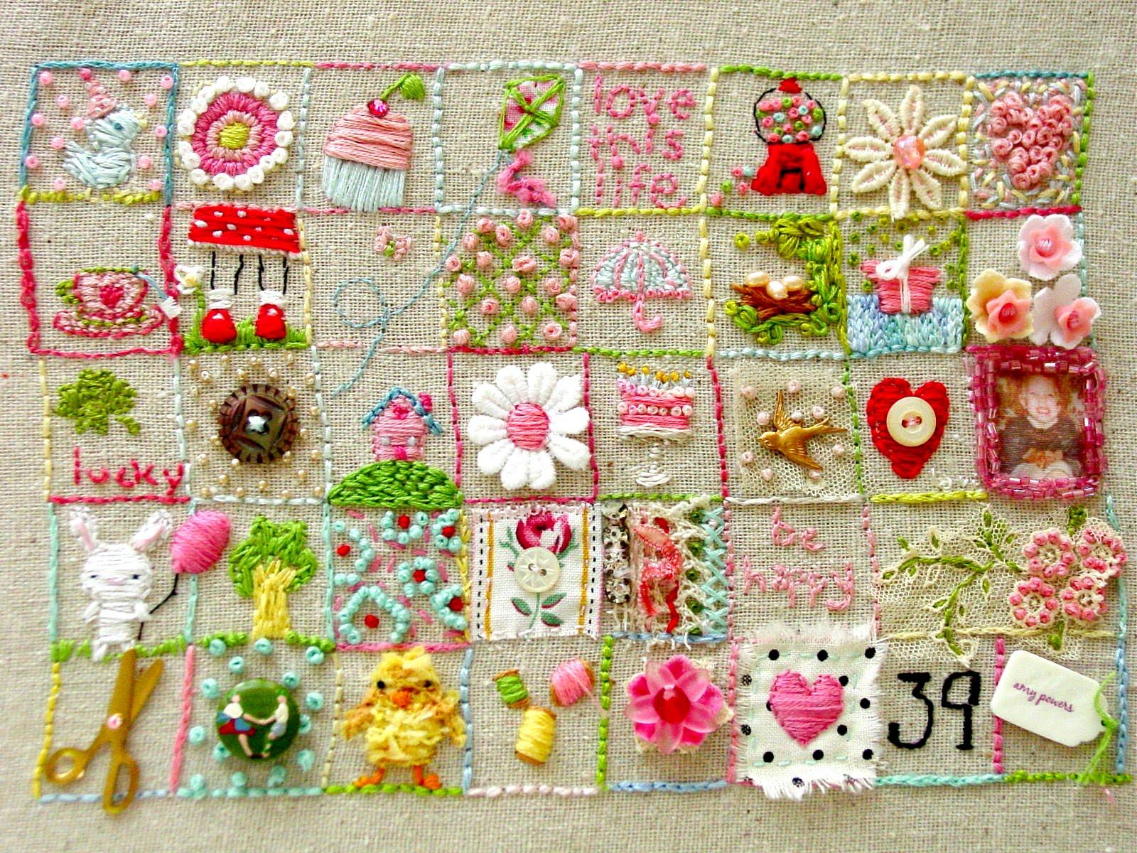 Embroidery sampler noelle o designs