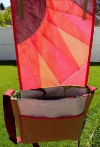 upcycled sail messenger