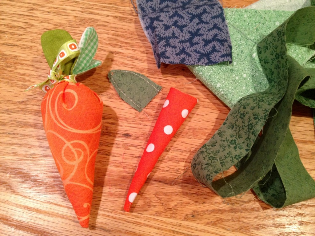 sewing carrots, easy spring sewing crafts