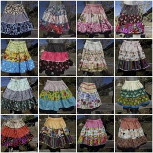 tier skirt sampler