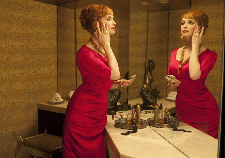 Mad men Joan red dress