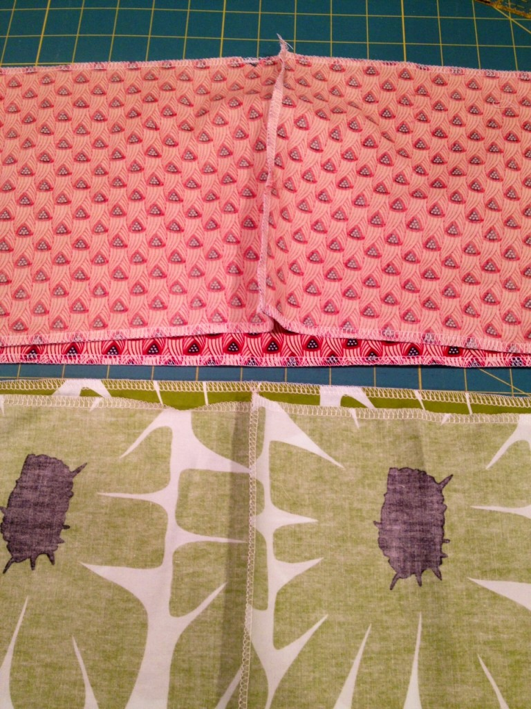 serge edges of fabric