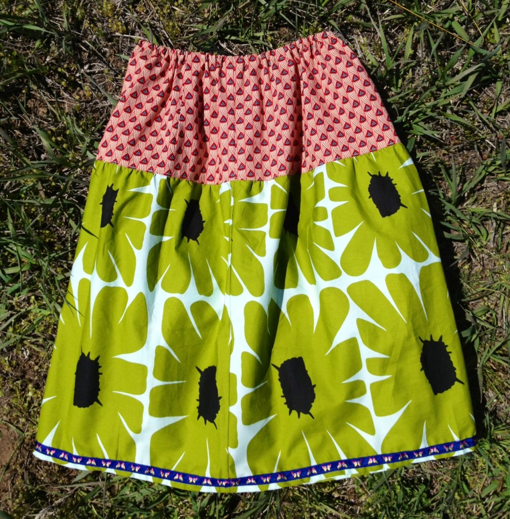 gathered skirt back view