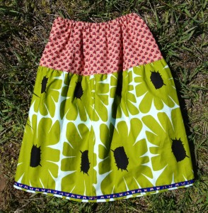 gathered skirt back view