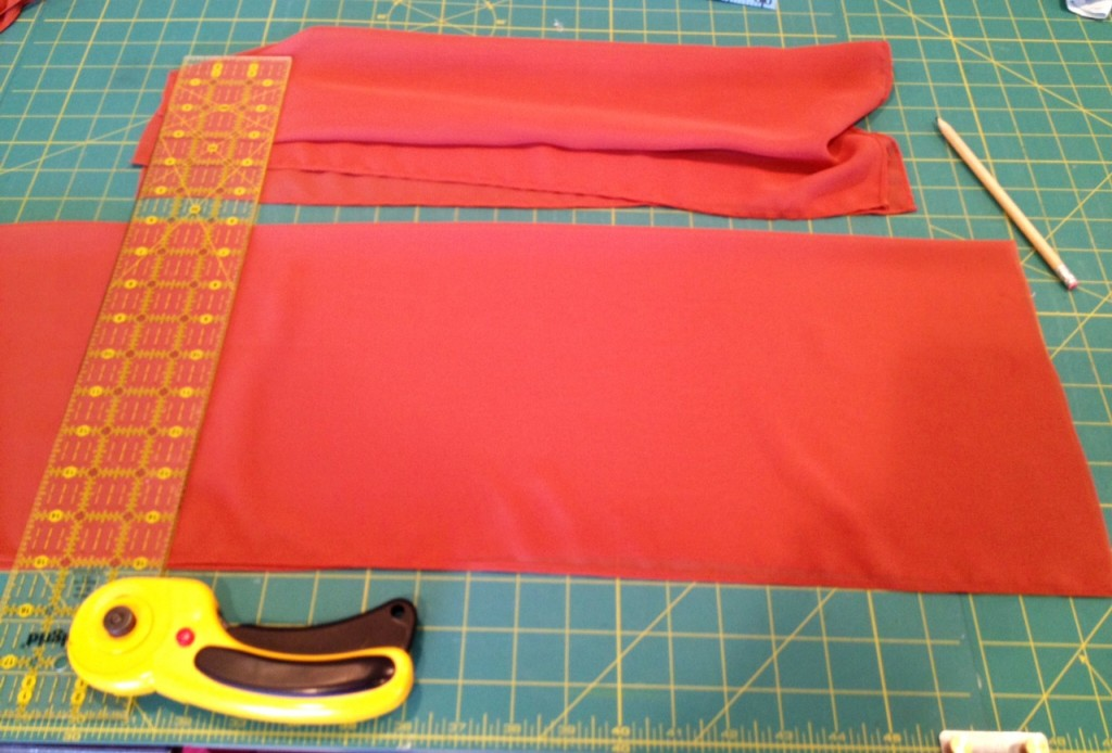 fabric from shrug for sleeves