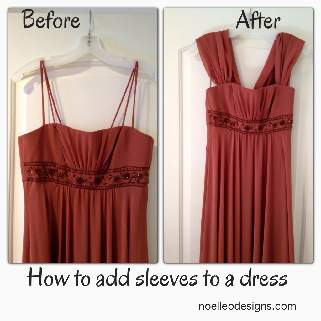Add Sleeves To A Strapless Dress