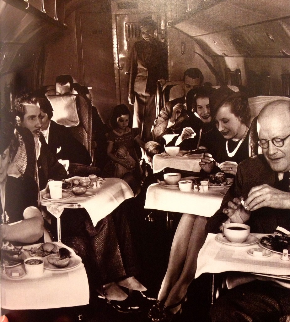 United airlines meal served, 1950's
