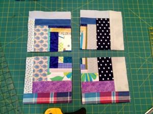 cut the squares in half again