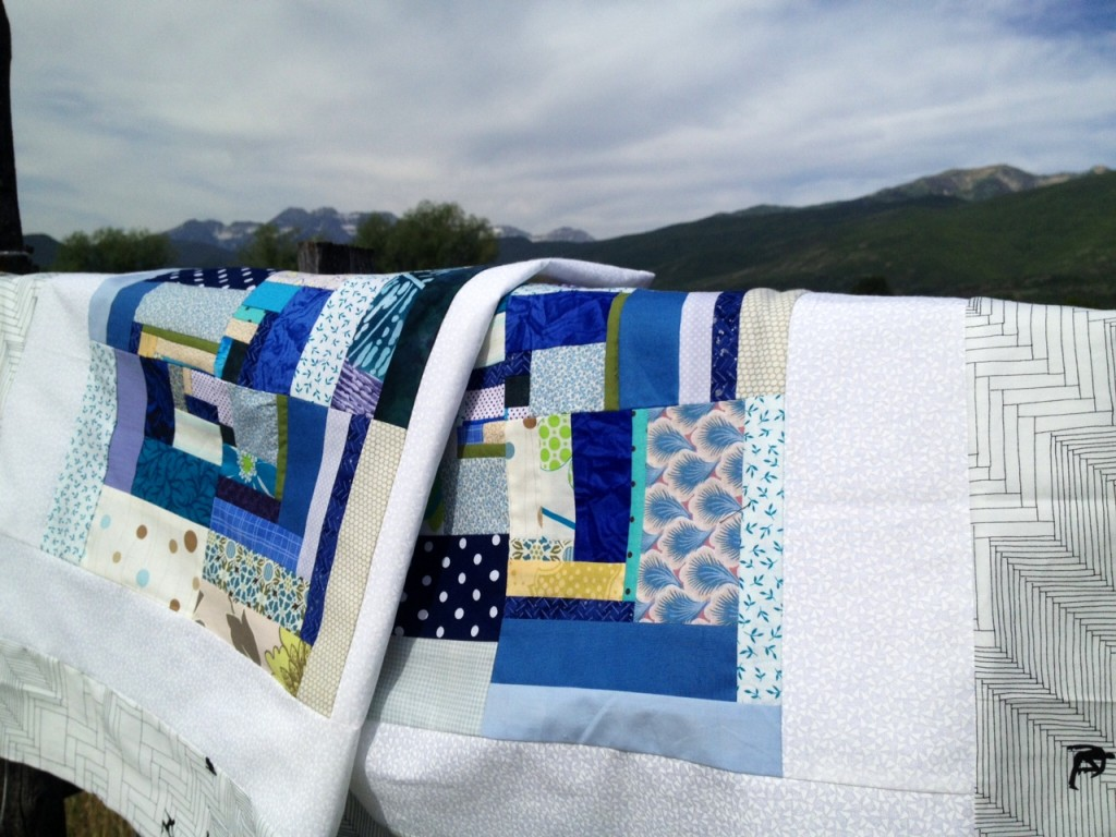 mountain and quilt