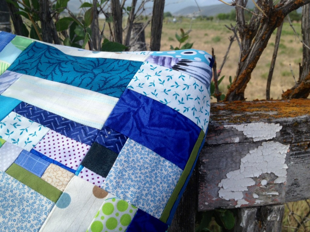 close up of blue fabrics