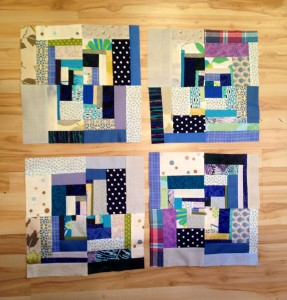abstract quartered quilt blocks