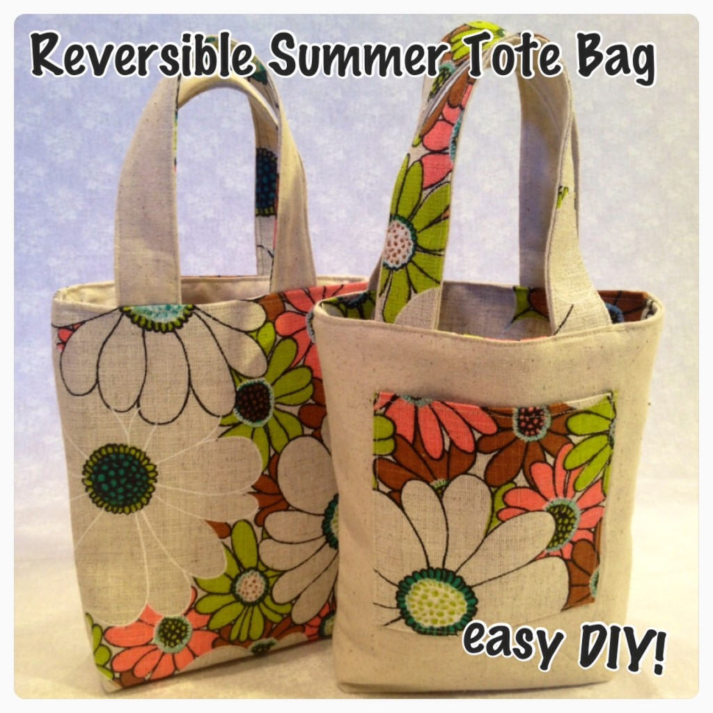 reversible tote bag pattern