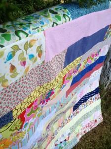 scrap stripe quilt