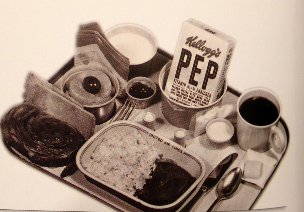 1950's airplane meal