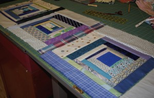 quilt with wacky squares