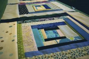 wonky squares ,log cabin quilt