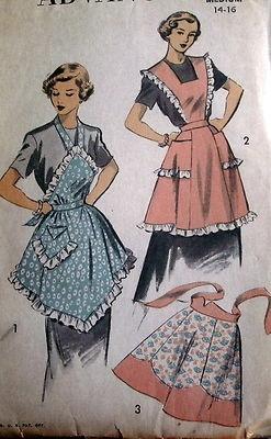 vintage ruffle apron pattern